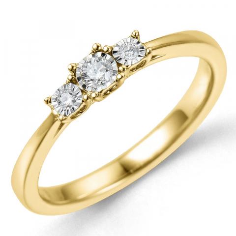 Kollektionsprov diamantring i 14  karat guld- och vitguld 0,06 ct 0,03 ct
