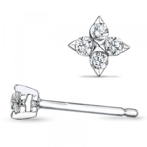 Diamantörhängen i 14 karat vitguld med diamanter