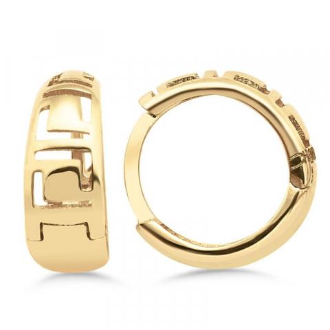 12 mm creoler örhängen i 9 karat guld med