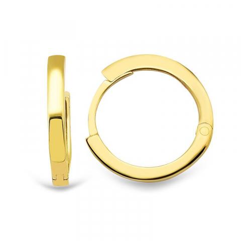 12 mm creoler örhängen i 9 karat guld