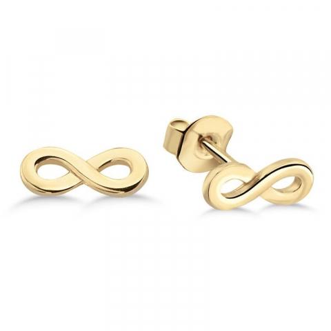 Fina infinity örhängestift i 9 karat guld med