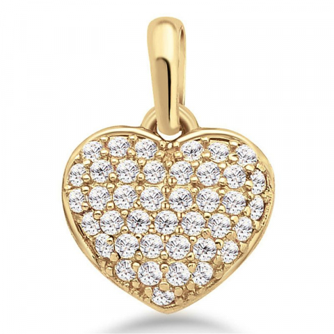 Fin hjärta hängen i 9 karat guld