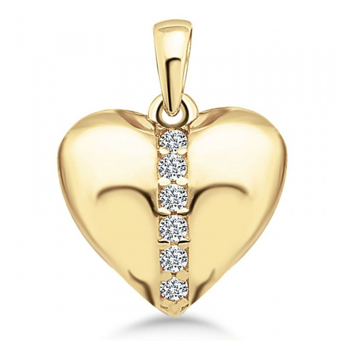 Fint hjärta hängen i 9 karat guld