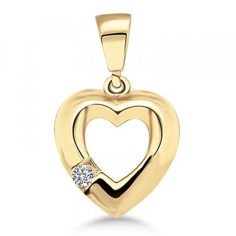 Smart hjärta hängen i 9 karat guld