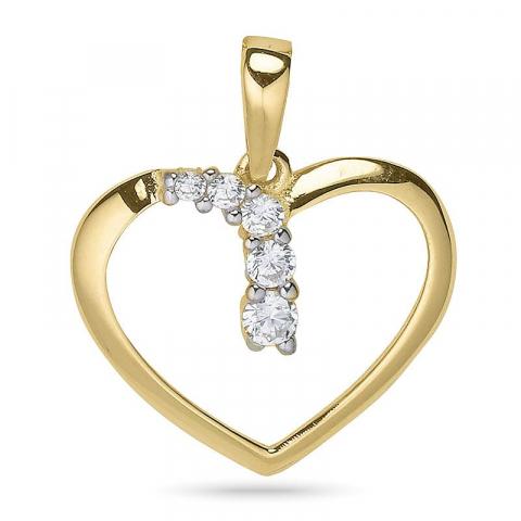 Hjärta hängen i 9 karat guld