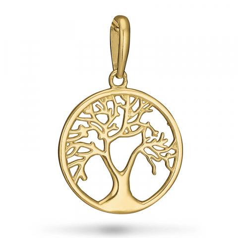 runt livets träd hängen i 9 karat guld