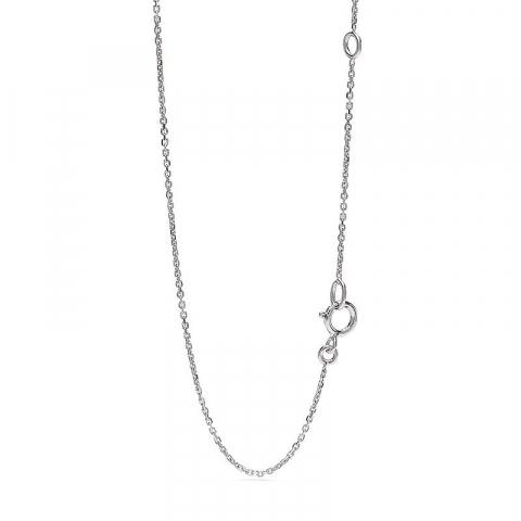 Droppformad hängen med halskedja i 14  carat vitguld 0,13 ct