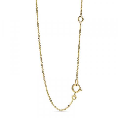 Droppformad diamantberlocker med halskedja i 14  carat guld 0,13 ct