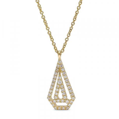 Diamantberlocker med halskedja i 14  carat guld 0,14 ct