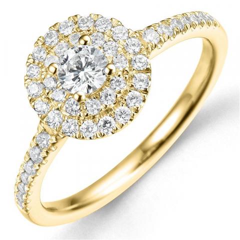 Beställningsvare - diamantring i 14  karat guld 0,20 ct 0,34 ct