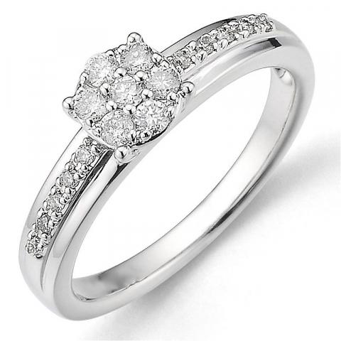 Beställningsvare - diamantring i 14  karat vitguld 0,27 ct