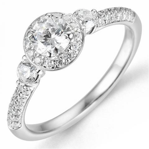 Beställningsvare - diamantring i 14  karat vitguld 0,40 ct 0,48 ct