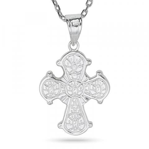 dagmarkors halsband i silver med hängen i silver
