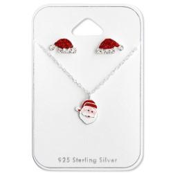 Jul set med örhängen och halsband i silver