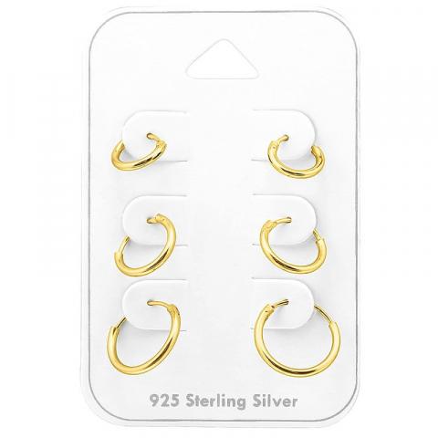8 x 10 x 12 mm creoler örhängen i förgyllt silver