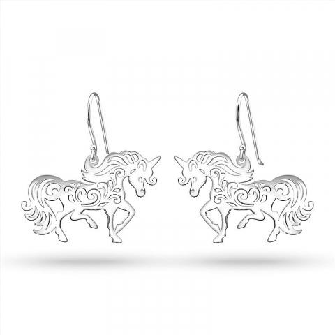 Enhörning örhängen i silver