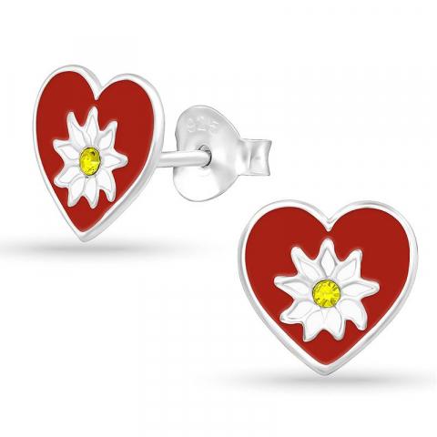Hjärta örhängestift i silver