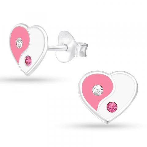 Fin hjärta örhängestift i silver