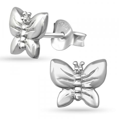 Blommor örhängestift i silver