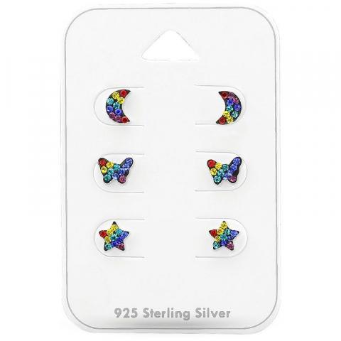 Fin örhängen för barn i silver