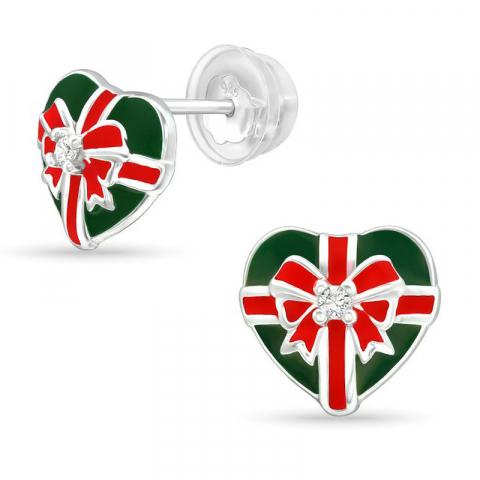 hjärta present örhäng i silver