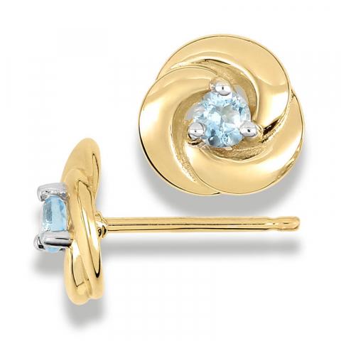 Eleganta topas örhängestift i 9 karat guld med topaser