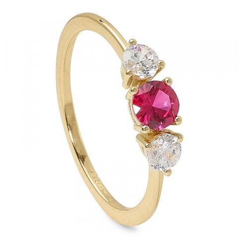 Enkel röd guld ring i 9 karat guld
