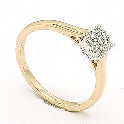 Kollektionsprov diamantring i 14  karat guld- och vitguld 0,18 ct
