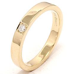 diamant alliancring i 14  karat guld 0,05 ct