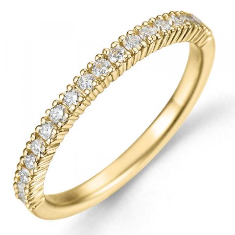Kollektionsprov diamantring i 14  karat guld 0,27 ct