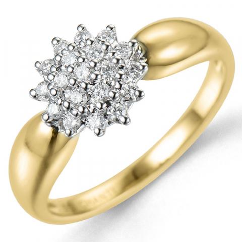 Kollektionsprov diamantring i 14  karat guld- och vitguld 0,27 ct