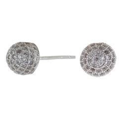 Joanli Nor kula örhängen i rhodinerat silver vit zirkon