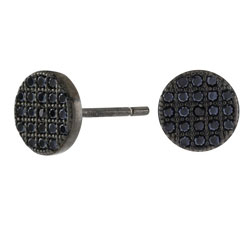 Joanli Nor svart zirkon örhängen i svart rhodinerat silver svarta zirkoner