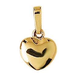 sött Aagaard hjärta hängen i 8 karat guld