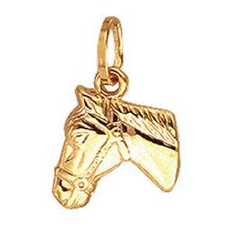Aagaard hästar hängen i 14 karat guld