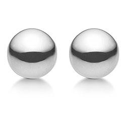 9 mm Aagaard kula örhängen i silver