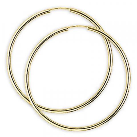 40 mm Aagaard creol i 14 karat guld