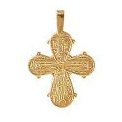 Dagmarkors aagaard 19 x 25 mm hängen i 8 karat guld