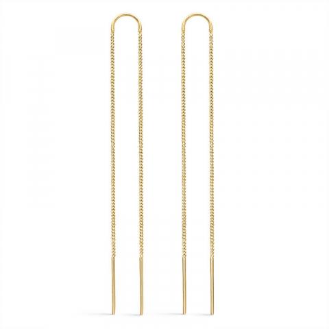 Støvring Design långa örhängen i förgyllt silver