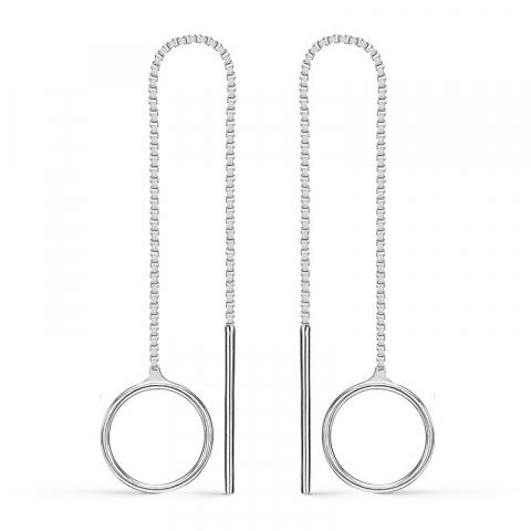 Støvring Design långa örhängen i silver