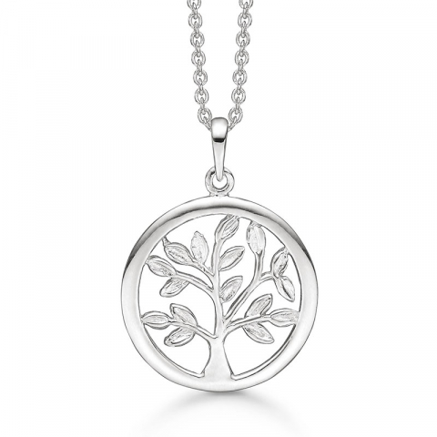 Støvring Design livets träd halskedja med berlocker i silver