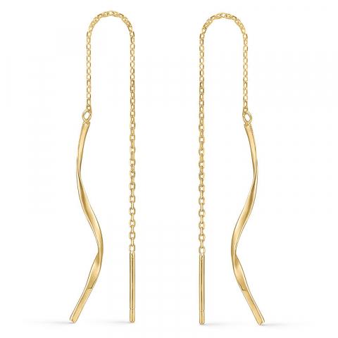 långa Støvring Design örhängen i 14 karat guld