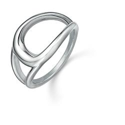 Støvring Design ring i rhodinerat silver