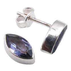 Iolit örhängestift i silver