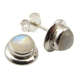 Runda örhängestift i silver