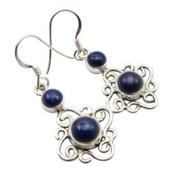 Söta blå lapis lazuli örhängen i silver