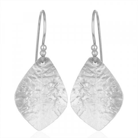 långa örhäng i silver