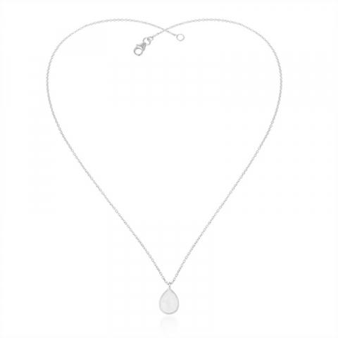 droppe månsten halsband i silver med hängen i silver