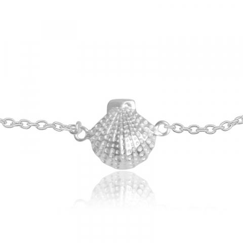 skal armband i silver med hängen i silver