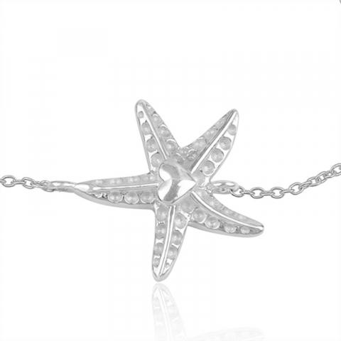 stjärna armband i silver med hängen i silver